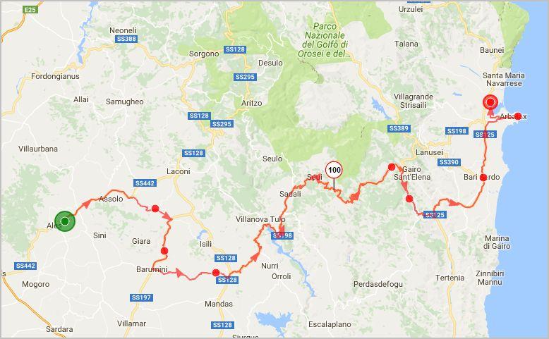 parcours Sardaigne montagne