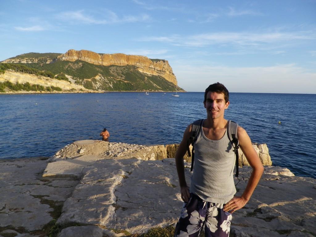 A Cassis, devant le somptueux cap Canaille (photo perso)