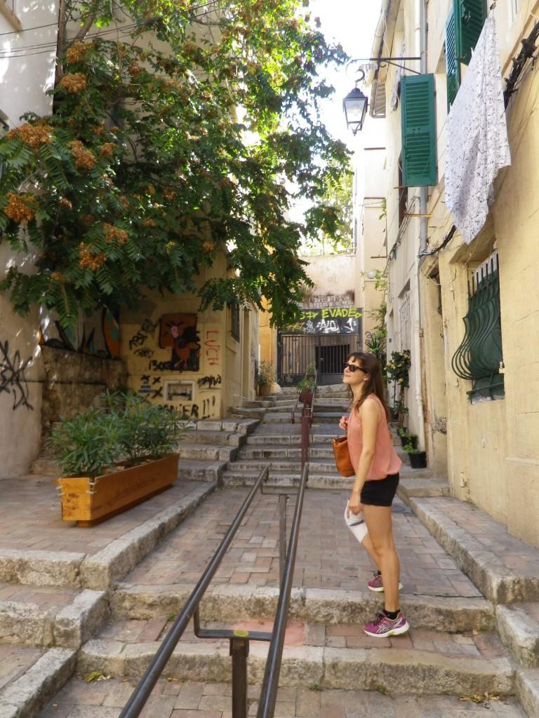 Naturellement, nous avons fait un petit crochet par le cœur historique de la ville : le quartier du Panier (photo perso)