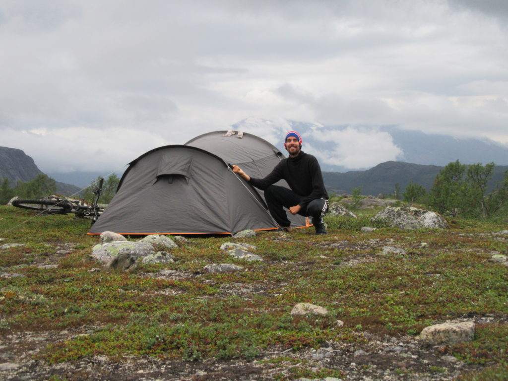 Camping sauvage voyage a vélo Scandinavie Norvège