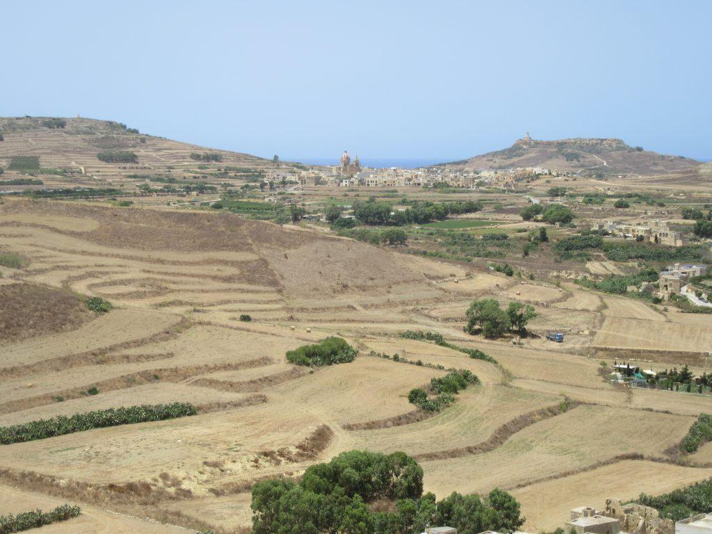 Panorama Gozo depuis citadelle de Victoria Ir Rabat