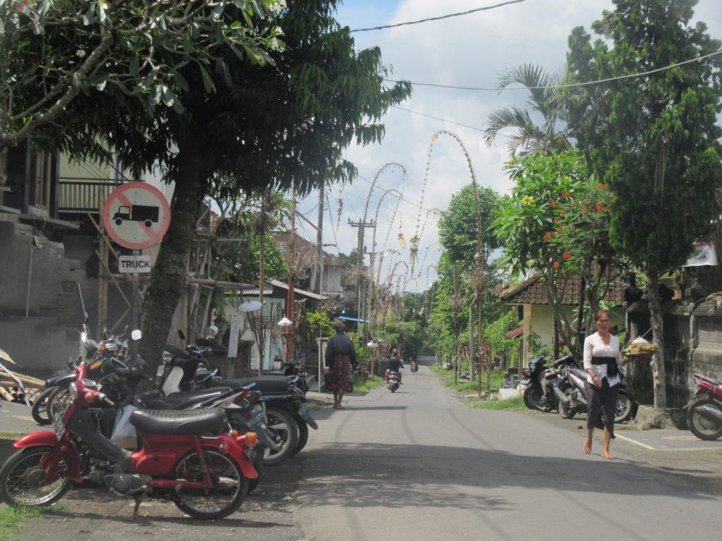 Village à Bali femmes offrandes hindouisme