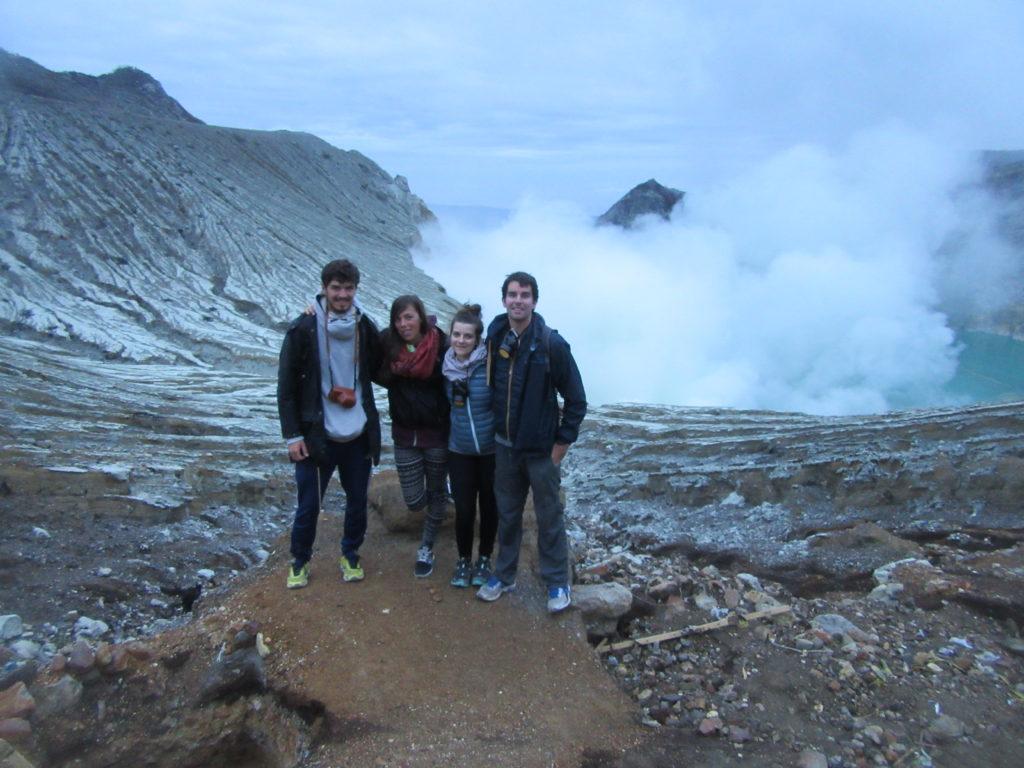 Ascension volcan kawah Ijen sur Java