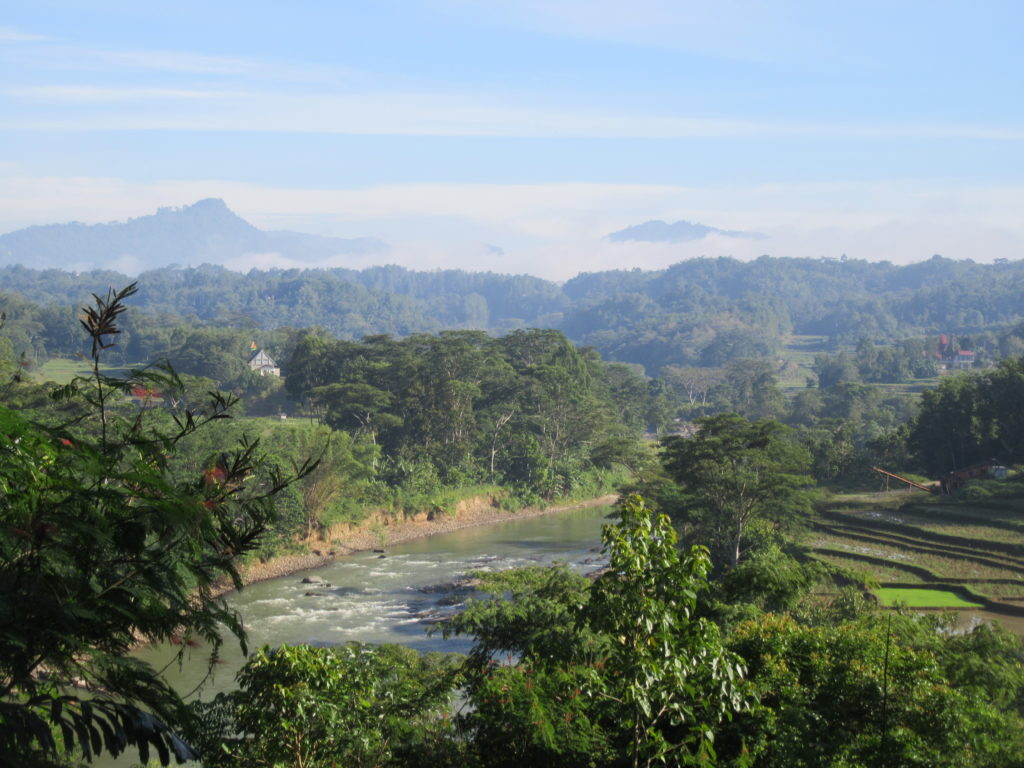 Paysage en Indonésie sur Sulawesi