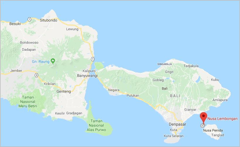 Nusa Lembongan carte