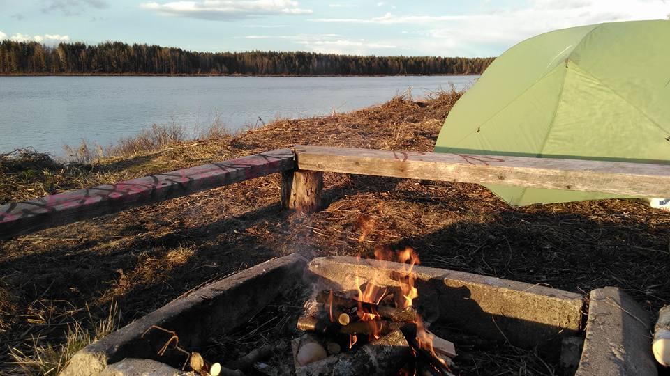 bivouac sauvage Finlande, voyage à vélo