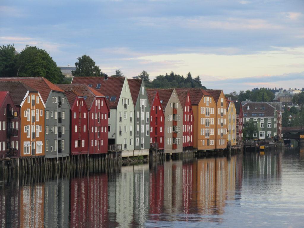 Trondheim maisons colorées