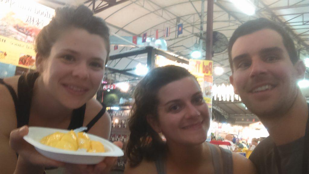Mango sticky rice Thailande marché de nuit
