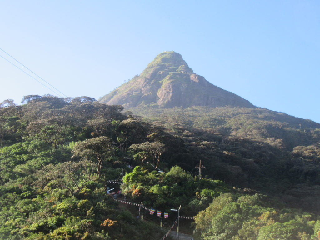pelerinage Adam's peak Sri Lanka