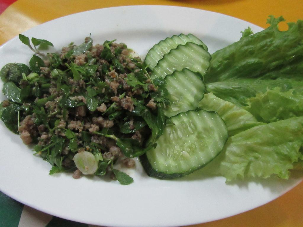 Laap plat Laos gastronomie