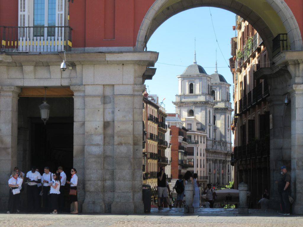 La Plaza Mayor dans le centre ville de Madrid