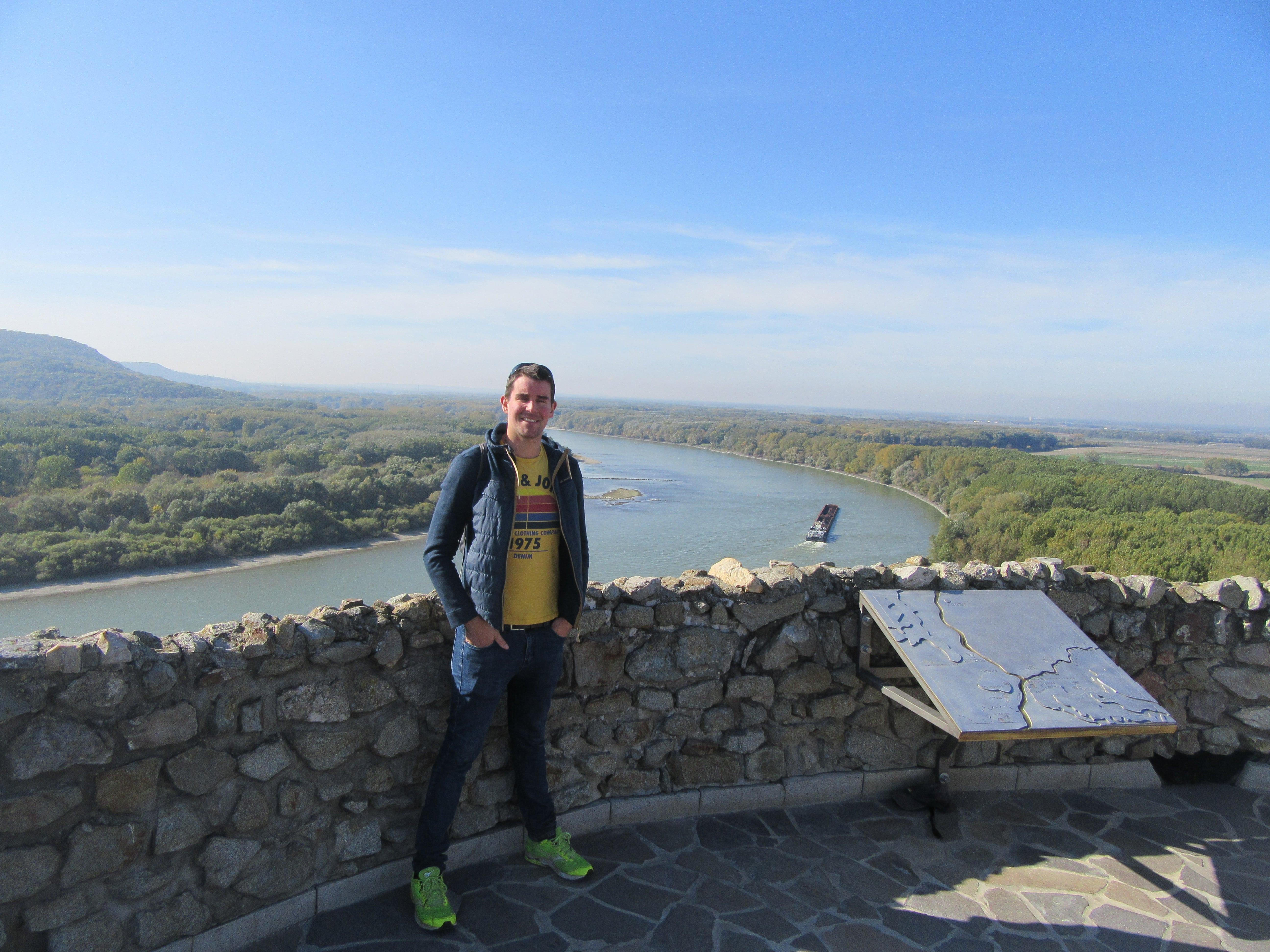 Le Danube en Slovaquie au chateau de Devin