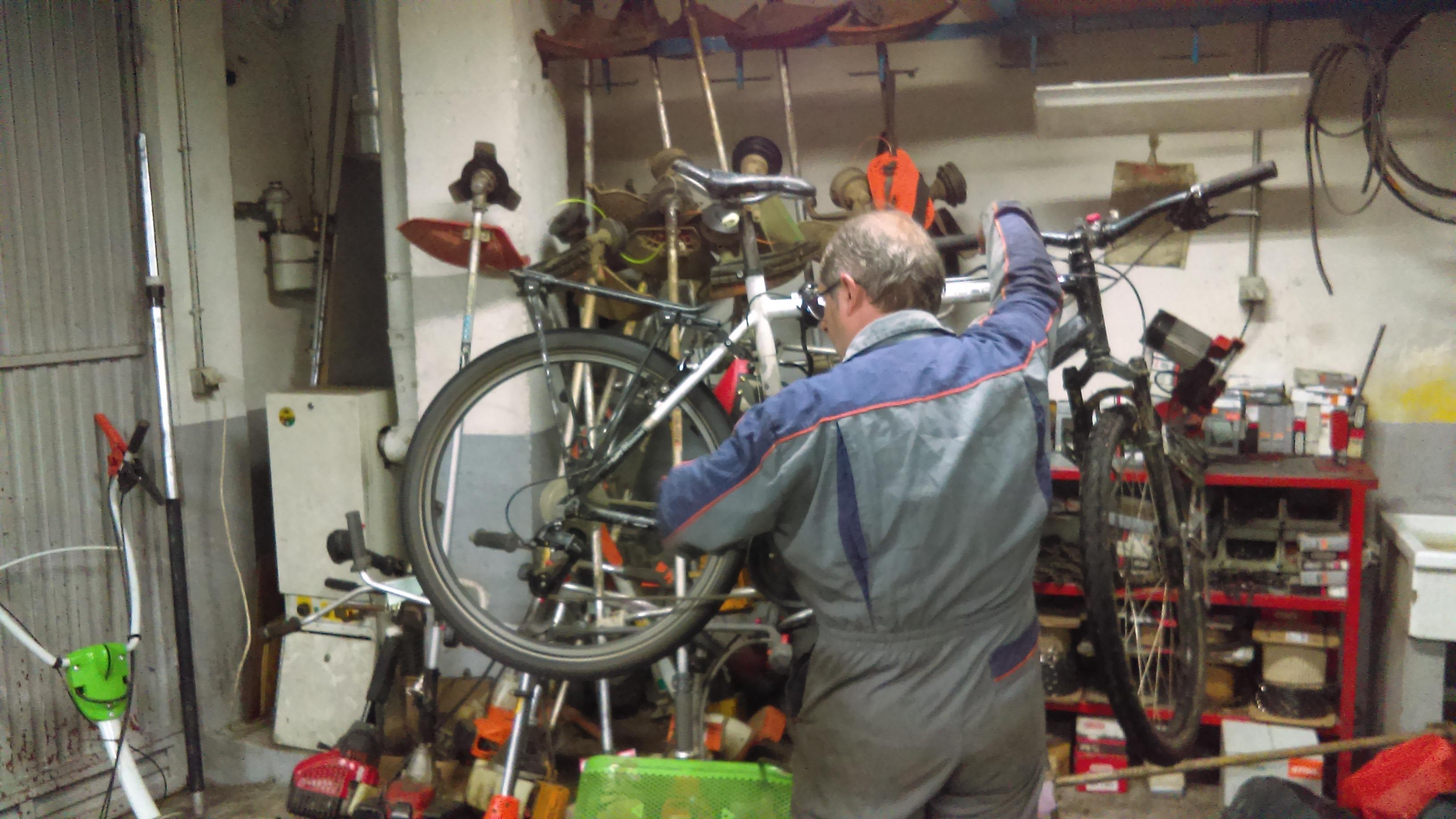 Derailleur cassé voyage à vélo