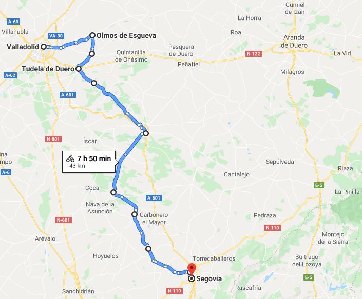 Parcours voyage à vélo Espagne Castille et Léon