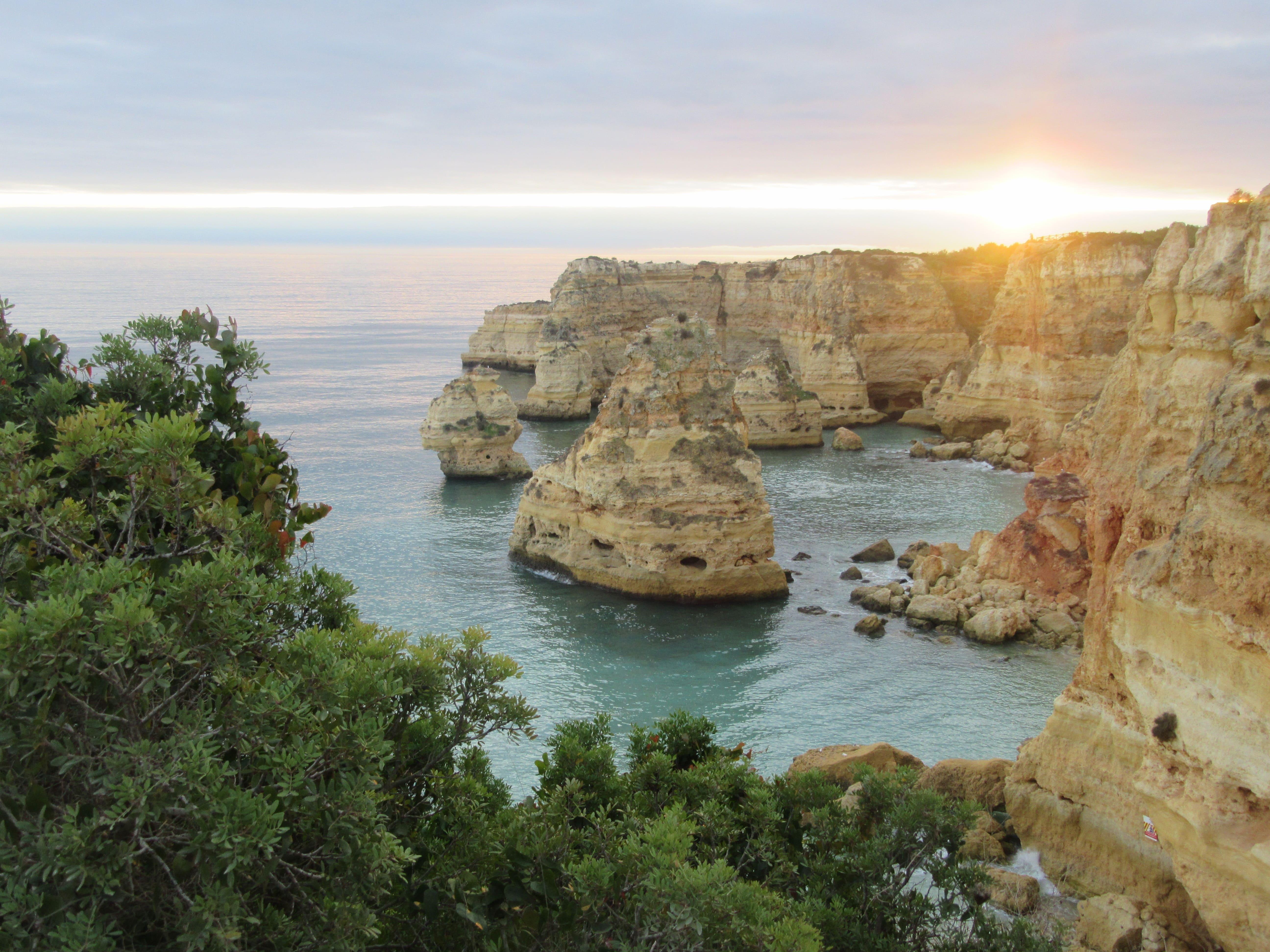 Plage Algarve voyage à vélo