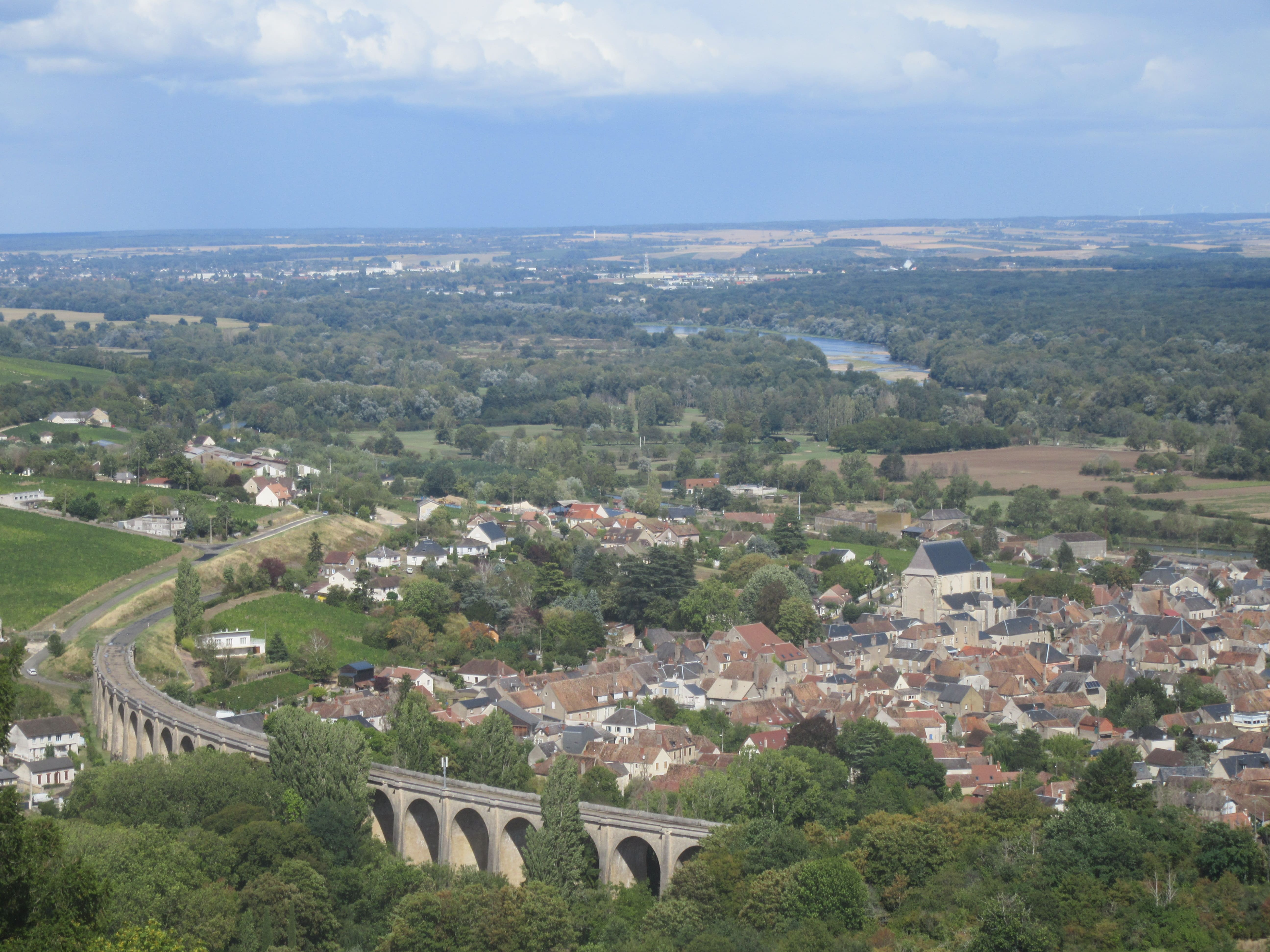 Panorama sur la Loire à Sancerre Loire à vélo