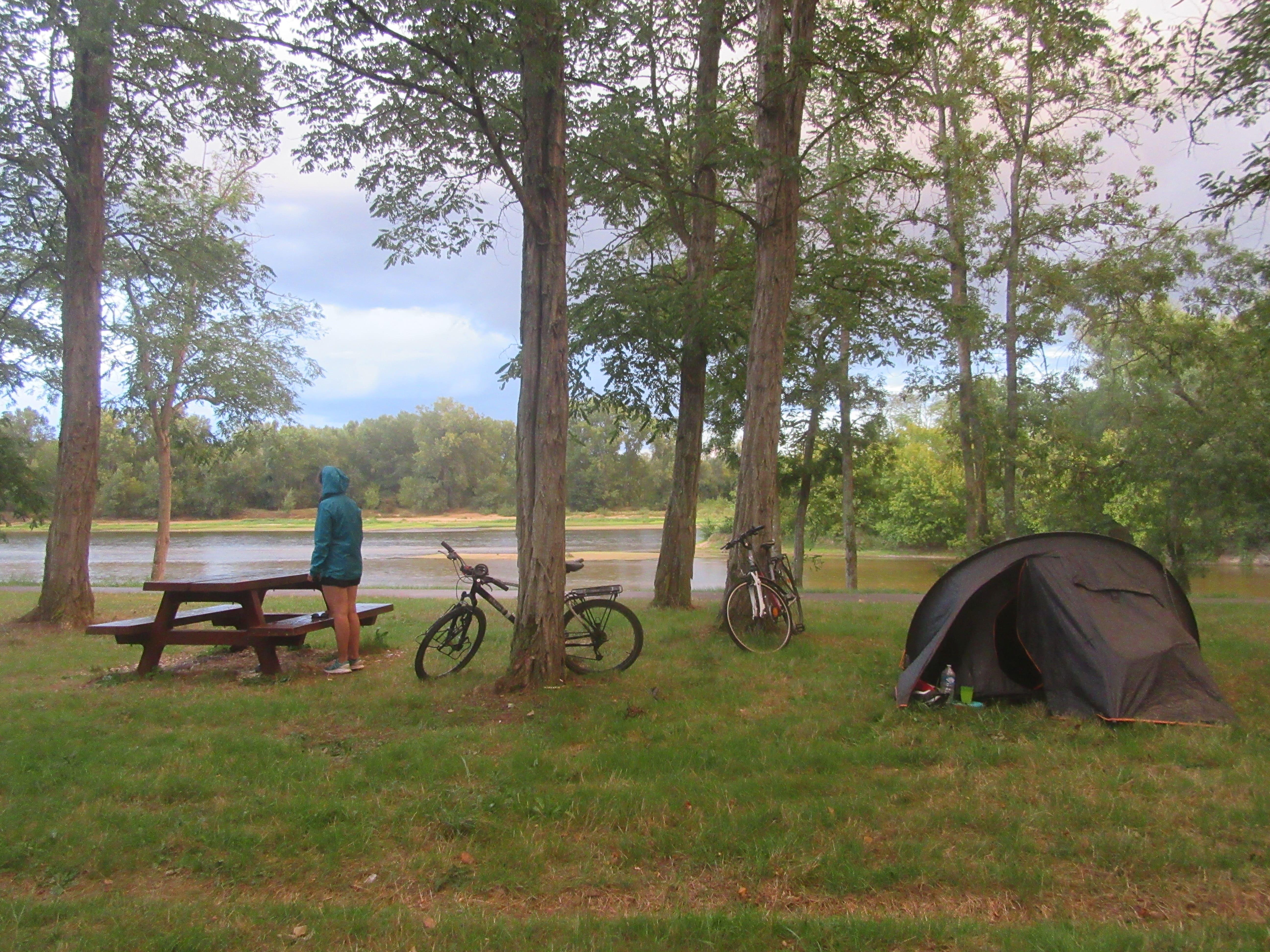 Camping sauvage sur la Loire à Vélo