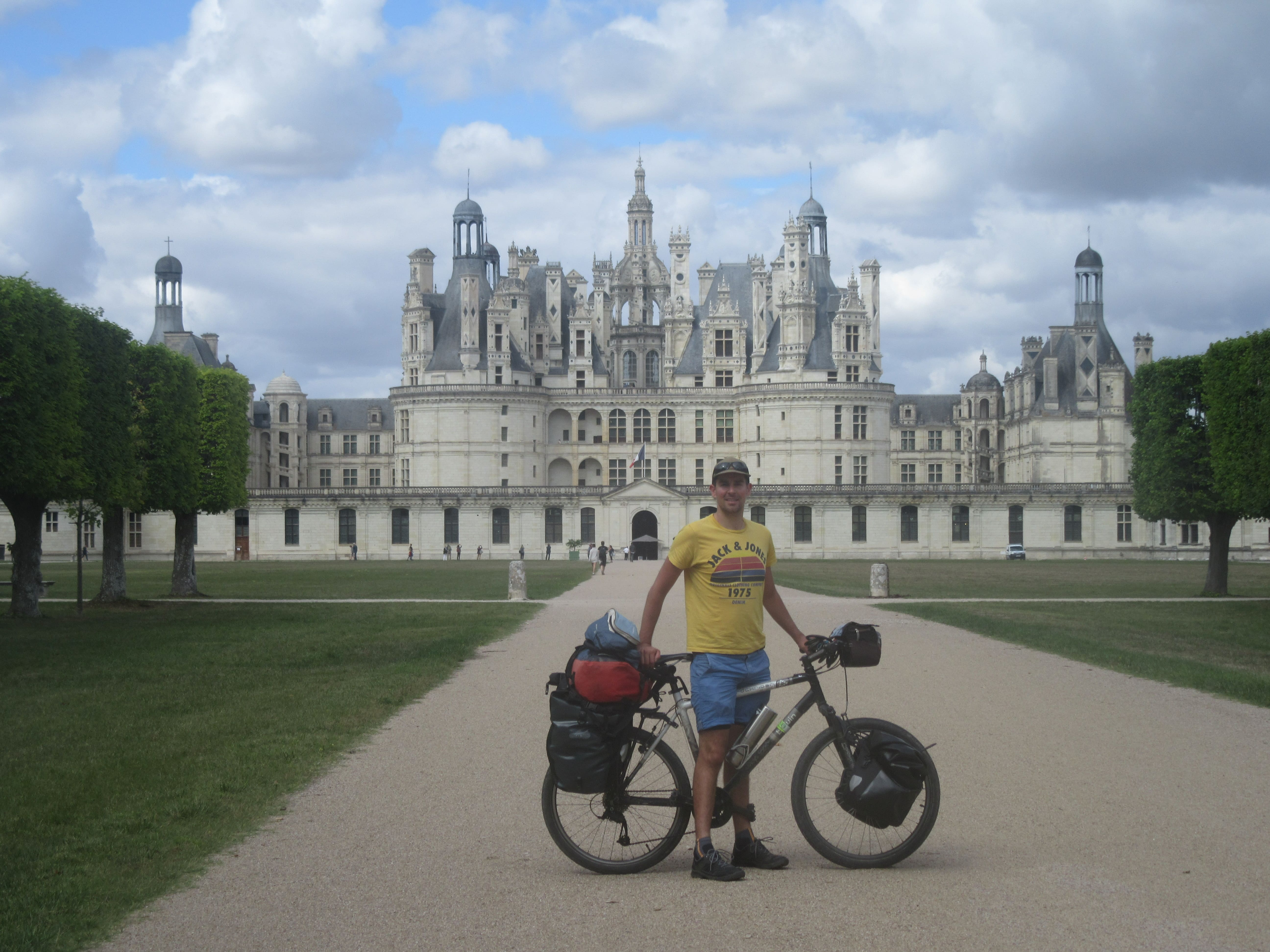 Le chateau de Chambord à vélo