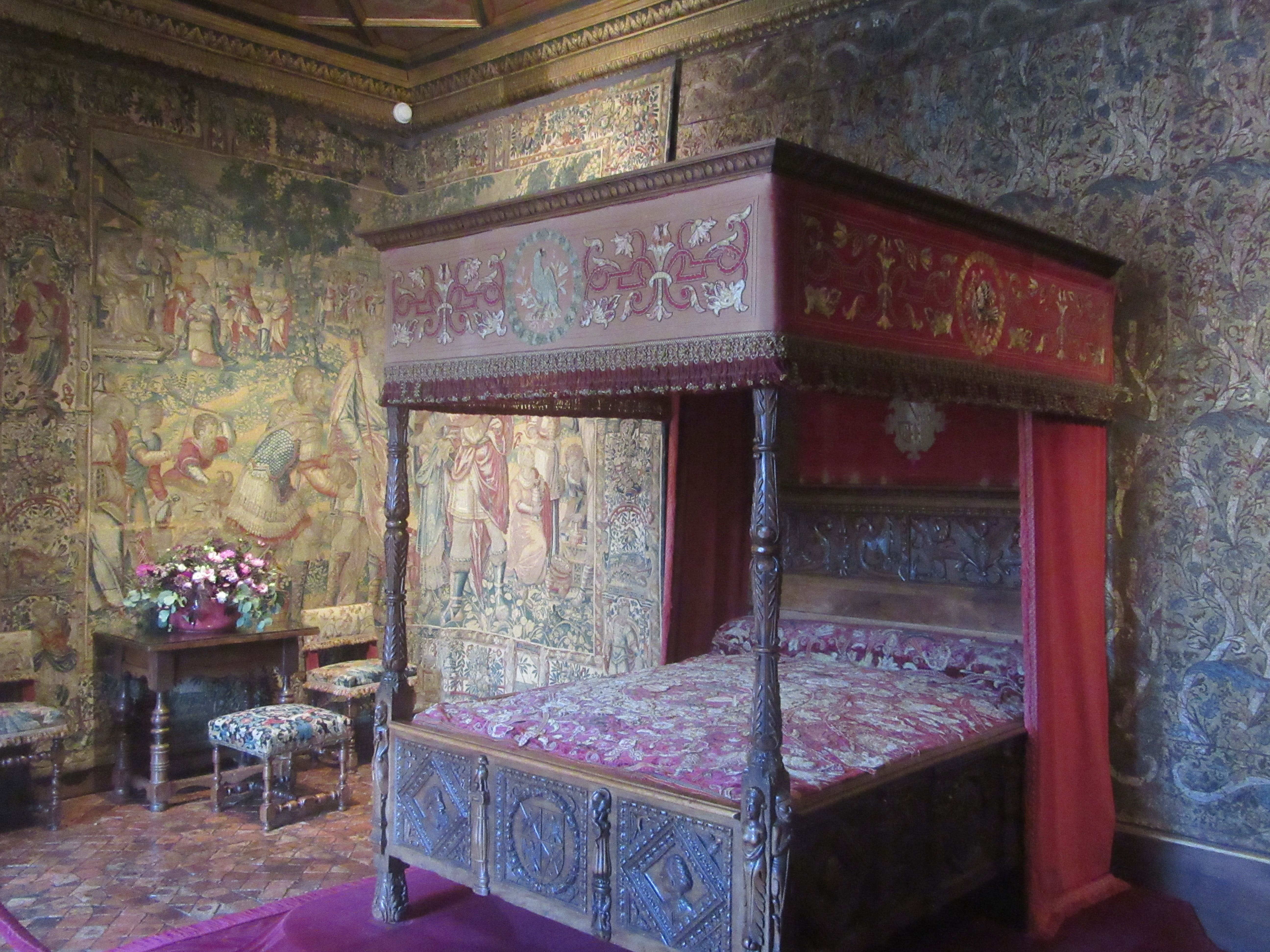 Chambre du chateau de Chenonceaux