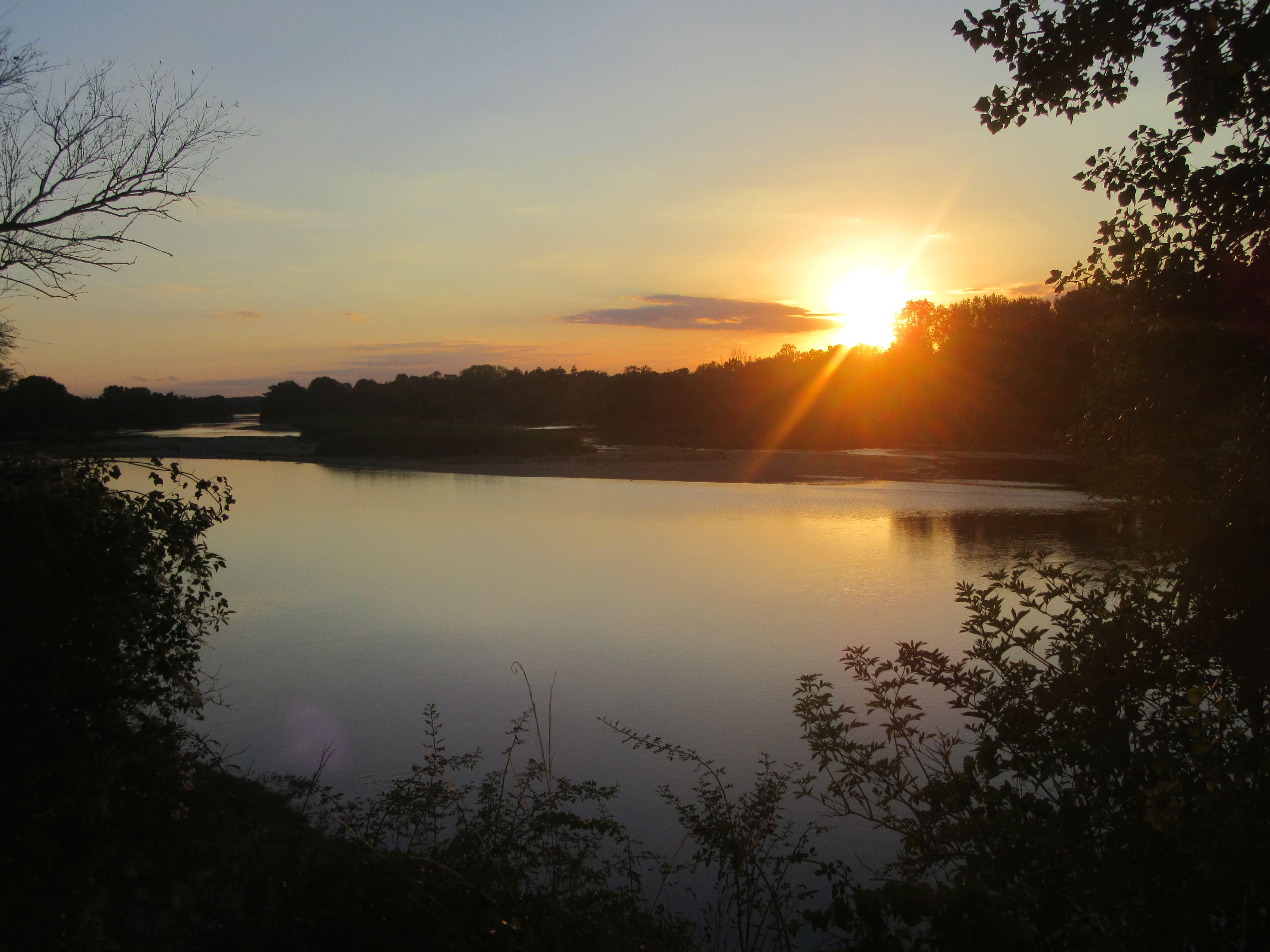 Coucher de Soleil sur la Loire à Amboise
