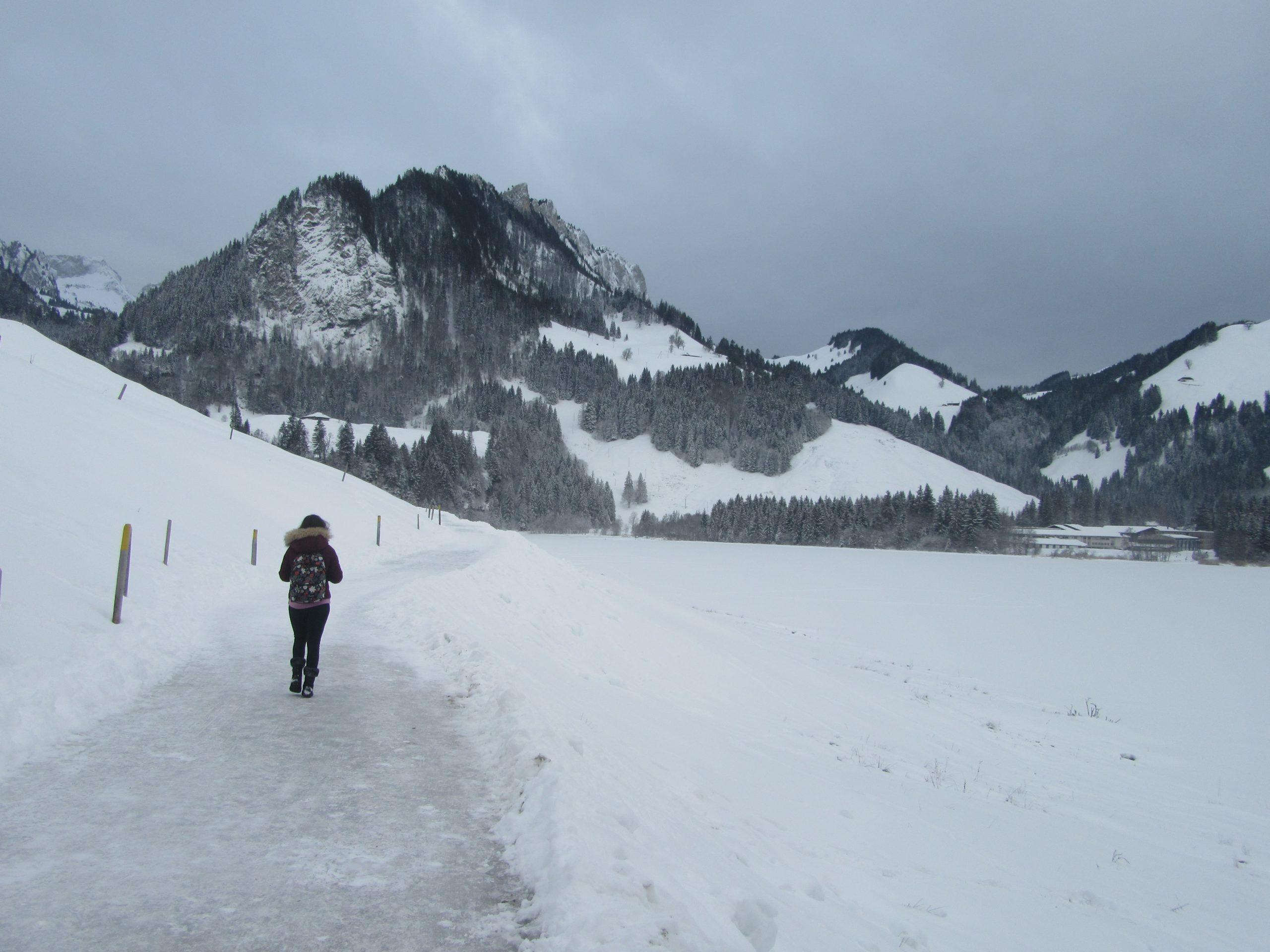 randonnée au lac noir en Suisse