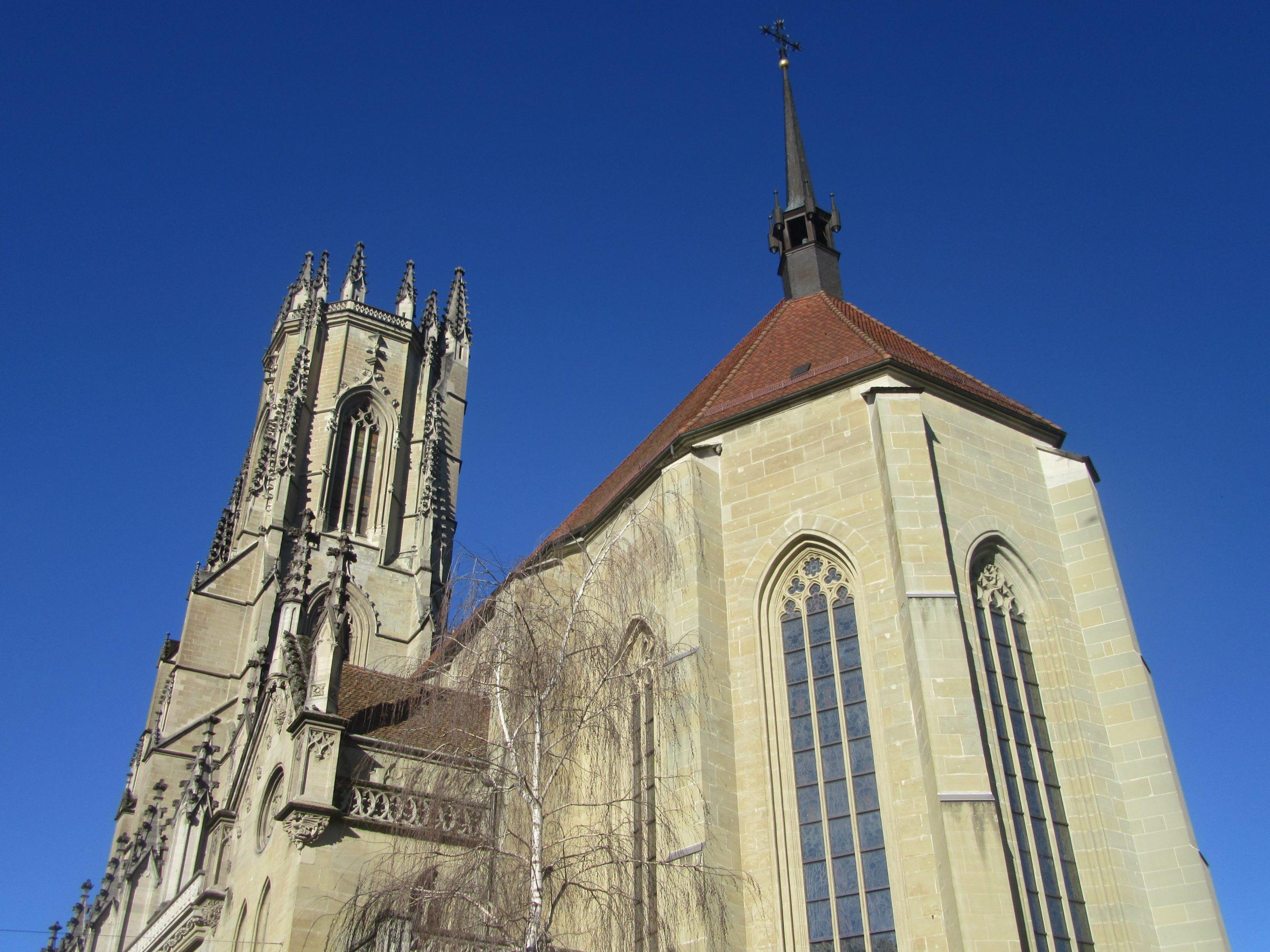 la cathedrale Saint Nicolas de Fribourg