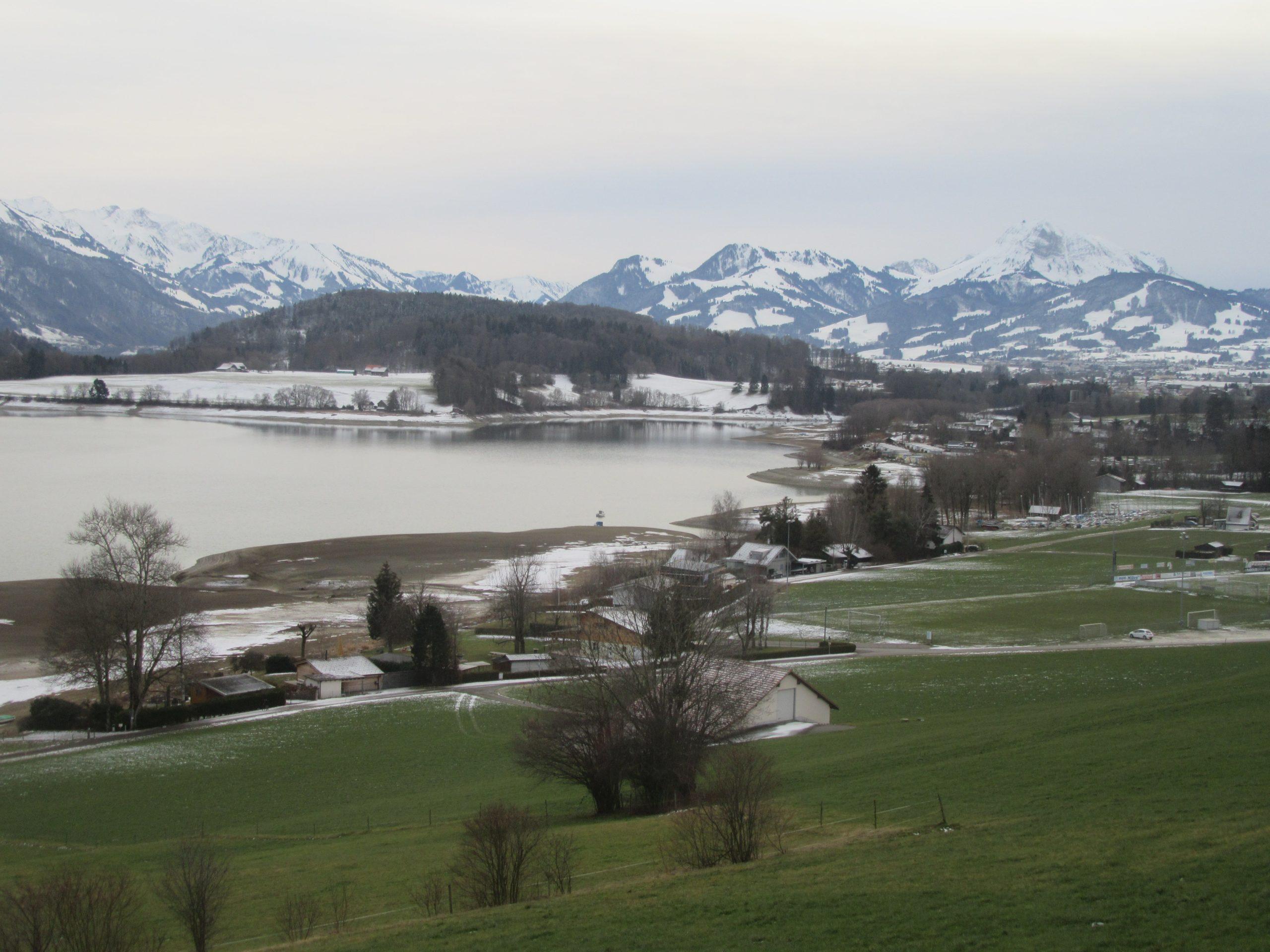 lac de la Gruyère en Suisse