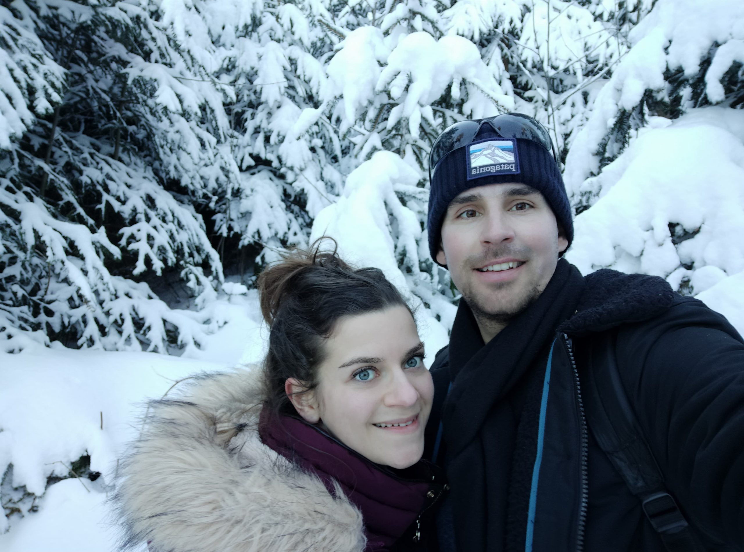 randonnée hivernale à Guggisberg parc naturel du Gantrisch